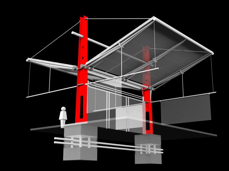 Center Tension Column - Render 2 JPG